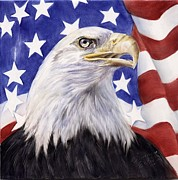 American Eagle Paintings - United We Stand? by Summer Celeste