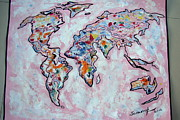 World Map Painting Posters - Universe Poster by Anand Swaroop Manchiraju