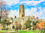 Ohio University Prints - University Hall Print by Jack Schultz
