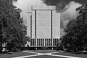 Indiana Photography Posters - University of Notre Dame Hesburgh Library Poster by University Icons