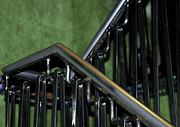 Color Green Framed Prints - Up the Down Staircase Framed Print by Madeline Ellis
