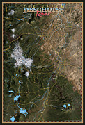 Prairie Digital Art Posters - Upper Deschutes River Poster by Pete Chadwell