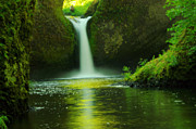Eagle Creek Prints - Upper Punch Bowl Falls  Print by Jeff  Swan