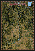 Salmon Digital Art Posters - Upper Rogue River Poster by Pete Chadwell