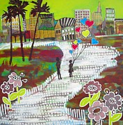 Cindy Davis Art - Urban Love Affair by Cindy Davis