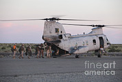 Us Open Art - U.s. Marines Board A Ch-46 Sea Knight by Stocktrek Images