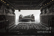 Green Bay Framed Prints - U.s. Navy Landing Craft Air Cushion Framed Print by Stocktrek Images
