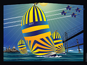 Shed Digital Art - USNA High Noon Sail by Joe Barsin