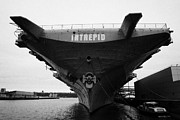 Naval Aircraft Prints - USS Intrepid Aircraft Carrier at the Intrepid Sea Air Space Museum new york Print by Joe Fox