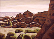 Abstracted Landscape Paintings - Utah hill by Dale Beckman