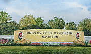 University Of Wisconsin Originals - UW Roundabout by Thomas Kuchenbecker