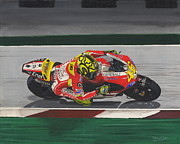Motogp Prints - Valentino Rossi Print by David Wright