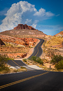 Curvy Road Prints - Valley of Fire Print by Inge Johnsson