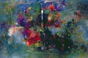 Figurative-abstract Posters - Valley of the Waterfalls Poster by Jane Deakin