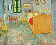 Arles Metal Prints - Van Goghs Bedroom at Arles Metal Print by Vincent Van Gogh