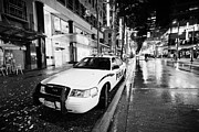 Patrol Car Acrylic Prints - Vancouver police squad patrol car vehicle BC Canada Acrylic Print by Joe Fox