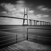 Fine Art Photo Framed Prints - Vasco da Gama Bridge Framed Print by Nina Papiorek