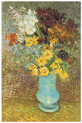 Anemones Paintings - Vase with Daisies and Anemones by Vincent Van Gogh