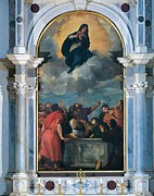 Madonna Posters - Vecellio Tiziano Known As Titian Poster by Everett