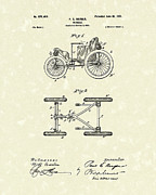 1901 Posters - Vehicle 1901 Patent Art Poster by Prior Art Design