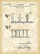 Loop De Loop Posters - Velcro Patent Poster by Stephen Younts