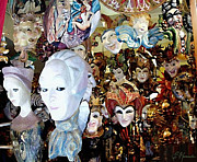 Store Window Display Paintings - Venetian Masks 2 by Ellen Henneke