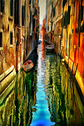 Gondolier Framed Prints - Venice Canals 10 Framed Print by Yury Malkov