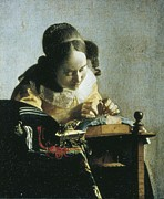 Nederland Posters - Vermeer, Johannes 1632-1675. The Poster by Everett