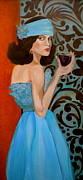 Figurative Art Mixed Media Posters - Veronica Poster by Debi Pople