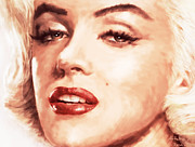 Marilyn Monroe Paintings - Verry Beautiful by Atiketta Sangasaeng