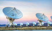 Telescopes Prints - Very Large Array Of Radio Telescopes  Print by Bob Christopher