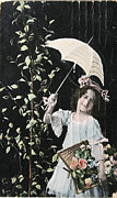 Patricia Hofmeester - Victorian girl with umbrella