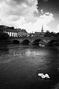 Republic Posters - View Of Enniscorthy Looking Up Towards The Castle Over The River Slaney Poster by Joe Fox
