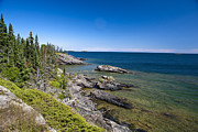 Watson Lake Prints - View of Rock Harbor and Lake Superior Isle Royale National Park Print by Jason O Watson