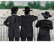 Jerusalem Painting Originals - Viewing The Western Wall by Carl Frankel