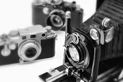 Aperture Framed Prints - Vintage Cameras Framed Print by Chevy Fleet