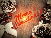 Christmas Greeting Digital Art - Vintage Christmas Card by Wim Lanclus