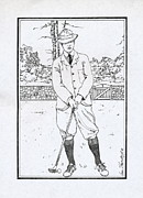 Apparel Framed Prints - Vintage Golfer Framed Print by Ira Shander