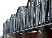 Vintage Iron Prints - Vintage Iron Railway Bridge Print by Yali Shi