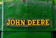 Antique Tractor Posters - Vintage John Deere Tractor Poster by Paul Ward