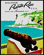 Vintage Poster - Puerto Rico Print by Benjamin Yeager