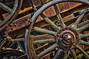 Spoked Wheel Prints - Vintage.8548 Print by Gary LaComa