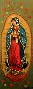Virgen De Guadalupe Paintings - VIRGEN DE GUADALUPE - Guadalupe Virgin - Lady of Guadalupe by Fanny Diaz