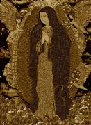 Best Sellers Digital Art Prints - Virgin of Guadalupe 3 Print by Dede Shamel Davalos