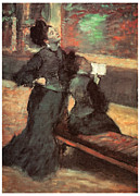 Visit To A Museum Print by Edgar Degas