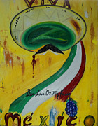 Emiliano Zapata Paintings - Viva Z Mexico by Joyce Carroll