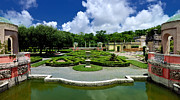 Mediterranean Prints - Vizcaya Museum and Gardens Biscayne Bay Miami  Florida Print by Amy Cicconi