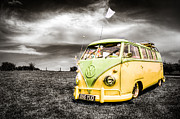 Vw Camper Van Framed Prints - VW camper van  Framed Print by Ian Hufton