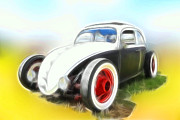 Vw Squareback Framed Prints - VW Rat Framed Print by Steve McKinzie