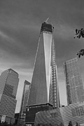 11 Wtc Digital Art Metal Prints - 1 W T C and MUSEUM in BLACK AND WHITE  Metal Print by Rob Hans